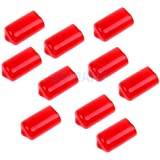 ELECTROPRIME 10 Pieces Snooker Billiard Cue Tip Rubber Protector Red