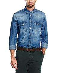 Cortefiel Camisa Vaquera  Azul M