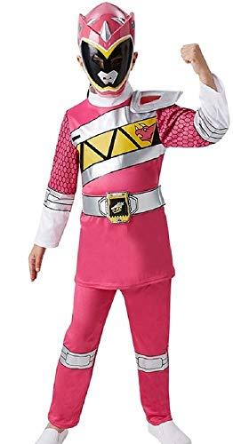 Fancy Me - Kinder Jungen Mädchen Kostüm Power Ranger Super Mega Force Helden Halloween Verkleidung - 3-4 Jahre, Rosa