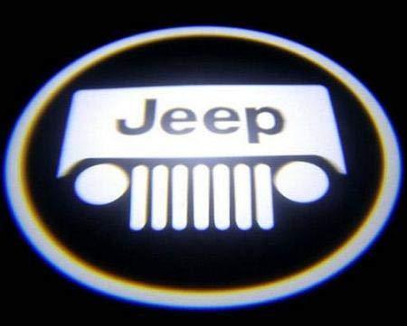 Aokairuisi Kit Luci Cortesia Logo Jeep portiera LED Proiettore 5W 12V Universale