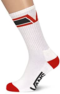 Vans Herren Socken Big V 10-13 1 PK, Red/Black, One size, VV3QREB