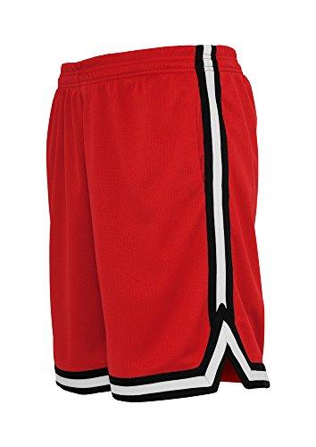 Preisvergleich Produktbild Urban Classics | Stripes Mesh Shorts | XL | Rot/Schwarz/Weiß