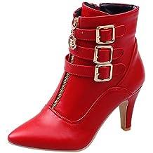 Botas de Tacón,BBestseller Calzado de Mujer Botines de Tobillo Mujer Ankle Tacón Alto Cuadrado