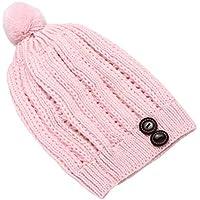 BESTOYARD Sombrero de Punto Beanie de Invierno Sombrero Pom Bobble Sombrero de Pom Bobble Gorro Beanie Sombrero de esquí de Invierno cálido (Rosa Claro)
