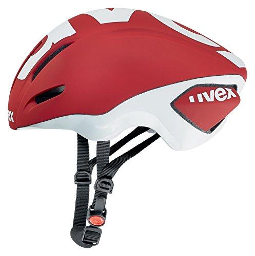 Uvex Edaero Casco de Ciclismo, Unisex Adulto, Rojo/Blanco, 58-61 cm