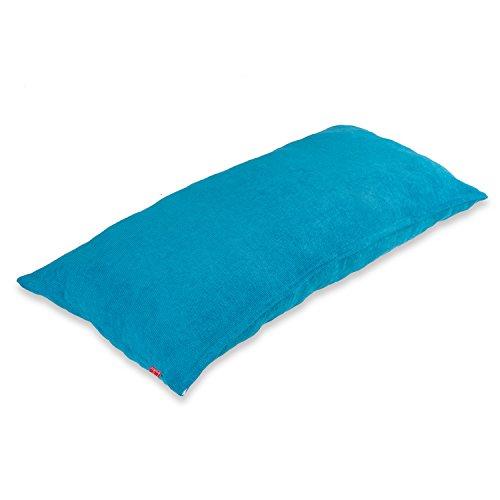 Baibu Einfach Dekorativ Sofa Kissenbezug Kissenhülle mit verdecktem Reißverschluss aus Kord in 8 modernen Farben und 5 Größen 40x80cm Himmel Blau (White Jersey Auto)