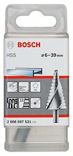 BOSCH 2 608 597 521  - BROCA ESCALONADA HSS - 6 - 39 MM  10 0 MM  93 5 MM (PACK DE 1)