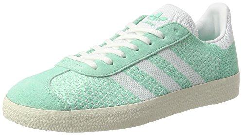 adidas Damen Gazelle Primeknit Sneaker, Grün (Easy Green/Footwear White/Chalk White), 37 1/3 EU (Adidas-symbol)