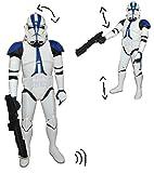 Unbekannt XXL Figur Clone Trooper 80 cm - voll beweglich - zum Spielen und Aufstellen - Star Wars - große Starwars Clone Wars Jungen Jedi Yoda Ritter Anakin Skywalker I..