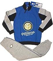 Pigiama Felpato F.C. Internazionale Tuta Prodotto Ufficiale Inter Bambino Ragazzo