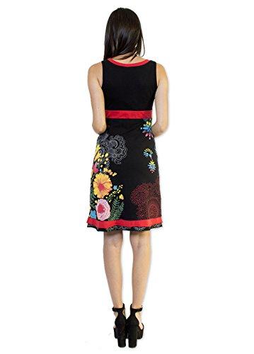 Coton Du Monde - Robe SERENA Noir Multicolore