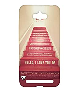 Vogueshell Love Stairs Printed Symmetry PRO Series Hard Back Case for Asus Zenfone Max