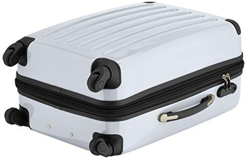 HAUPTSTADTKOFFER - Alex - 2er Koffer-Set Hartschale glänzend, 65 cm + 55 cm, 74 Liter + 42 Liter, Graphit-Blau Silber-Weiß