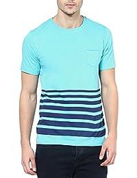 Elaborado Men Round Neck Tshirt - Mint Blue