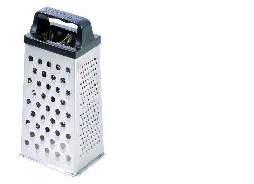 Westmark Vierkantreibe mit 4 Schneid-/Reibeflächen, Höhe: 15,7 cm, Rostfreier Edelstahl/Kunststoff, Silber/Schwarz, 11422270
