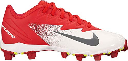 Nike Boy's Vapor Ultrafly Keystone (GS) Baseball Cleat University Red/Bright Crimson/White Size 11 Kids US