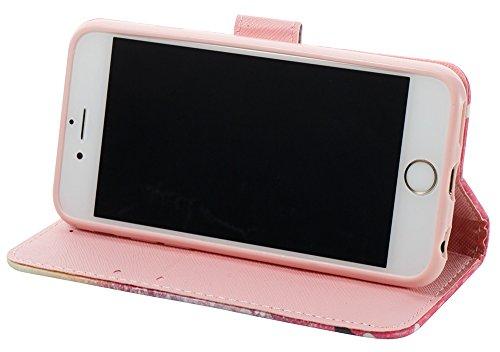 [Coque Iphone 6 silicone/Coque Iphone 6S silicone] Nnopbeclik Mode Folio Wallet/Portefeuille en Bonne Qualité PU Cuir Housse pour Iphone 6 Coque silicone/Iphone 6S Coque silicone (4.7 Pouce) élégant S friend