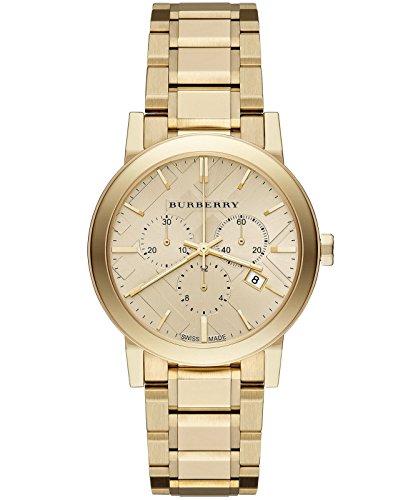 Burberry dorado de lujo 2014para mujer Unisex Hombres la ciudad BU9753–Reloj cronógrafo