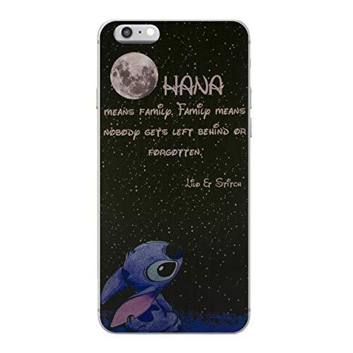 """iPhone 6 Plus/6s Plus Lilo et Stitch Étui en Silicone/Coque de Gel pour Apple iPhone 6S Plus 6 Plus (5.5"""") / Protecteur D'écran et Chiffon/iCHOOSE/Citation - Lune"""