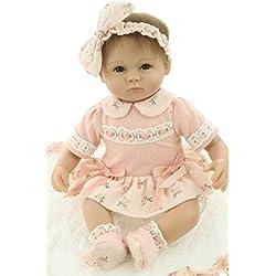 """17"""" Soft Silicone Vinilo Renacido Bebé Muñecas Lifelike Recién Nacido Bebé Juguete Regalo 43CM Reborn Baby Dolls"""