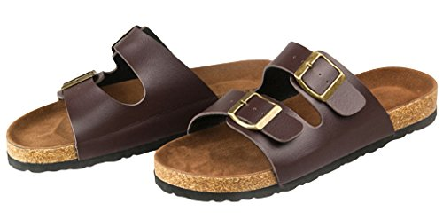 The Vogue Slippers Women's Sandales Pour Hommes Avec Bretelles Brown Pantoufles