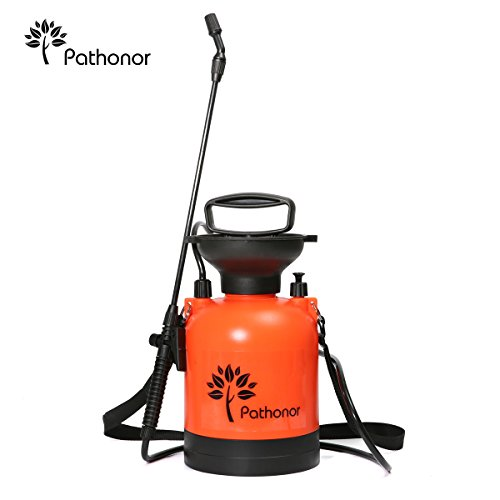 Pathonor 4L Spruzzatore di Acqua a Pressione Spruzzatori con Barra di spruzzo,Singola Spalla Spruzzatore da Giardino Alta capacità da Utilizzare con Acqua, Fertilizzante o pesticidi