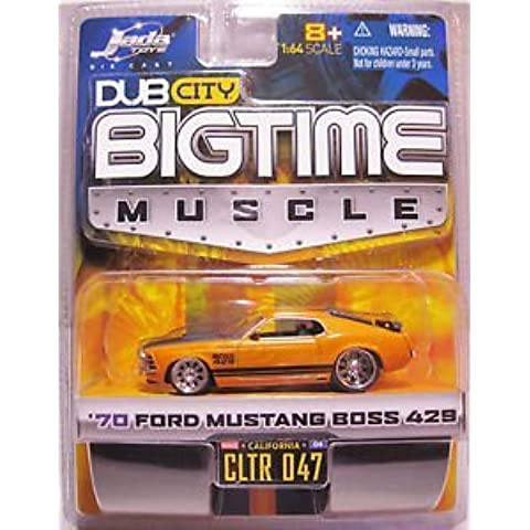 Dub City Bigtime Muscle 70 Ford Mustang Boss 429 Orange and Black by JADA (70 Boss 429 Mustang)