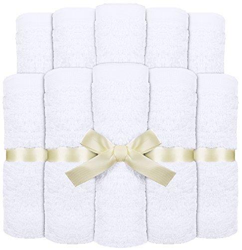 Salviette di bambù per bambini -  Asciugamani morbidi e altamente assorbenti di qualità Premium per pelli sensibili - Salviette per neonati lavabili -ottimo regalo (10 pacco, 25 x 25 cm) di Utopia Towels