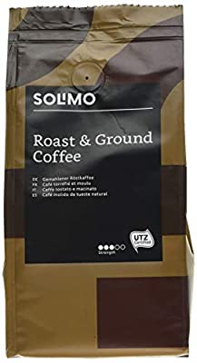 Amazon Brand Solimo Ground Coffee Aroma Compatible with all use - UTZ certified, 1,36 kg (6 x 227g)