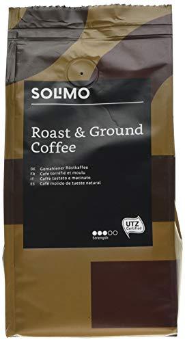Marca Amazon Solimo Café molido Aroma compatible con todos los usos - certificado UTZ, 1,36 kg (6 x 227g)
