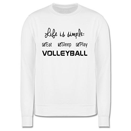 Volleyball - Life is simple Volleyball - Herren Premium Pullover Weiß