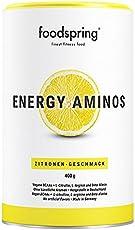 foodspring Energy Aminos, 400g, Zitrone, Cleaner Pre-Workout Booster mit pflanzlichen BCAAs ohne Chemiekeule, Hergestellt in zertifizierten Produktionen in Deutschland