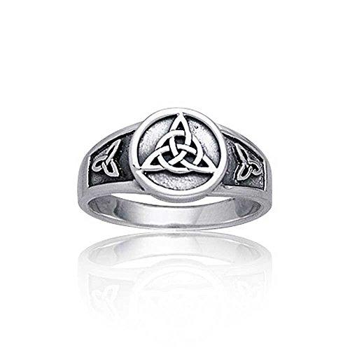 Bling Jewelry Triquetra en Argent Sterling Bijoux Anneau Nœud celtique