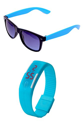 RST wayfarer sunglasses & LED watch