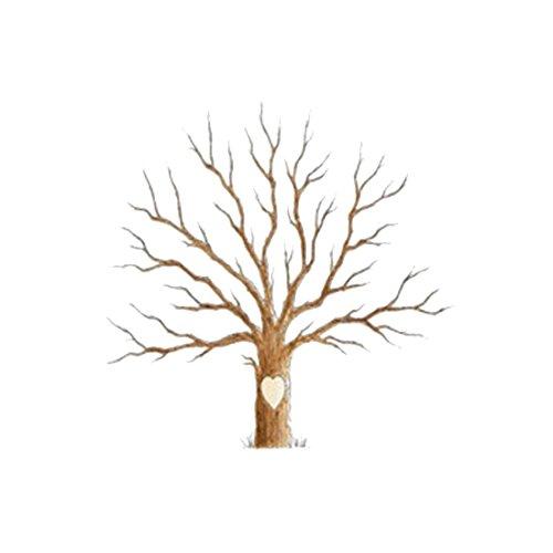 Huellas dactilares firma de invitados de boda huellas amante árbol lienzo árbol, 30 x 40 cm