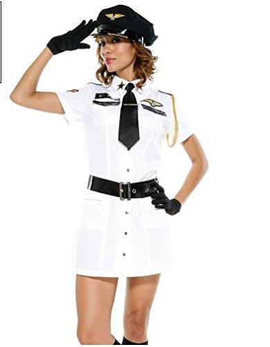 CH & Ch das neue Trikot weiß Halloween Kostüme Polizistin (Kostüme Halloween Trikot)