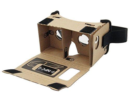 google - karton, virtuelle echter laden virtual - reality - brille 3d - headset kasten mit großen klare 3d - optische linse und komfortable kopf - nase - pad für alle 3 - 6 - zoll - smartphone