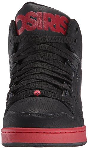 Baskets Osiris: Mens NYC 83 BK/RD Black/Red