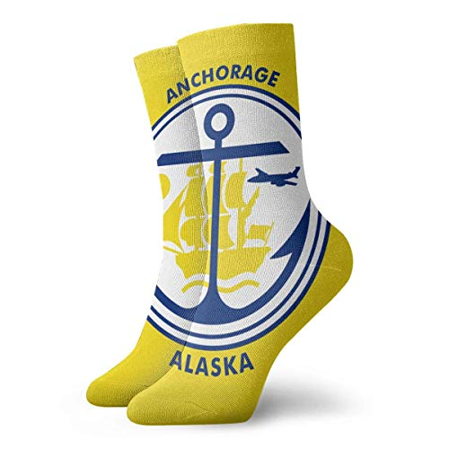 Funny Colourful Flag Of Anchorage Mannschaftssocken Outdoor Socks For Unisex women's socks