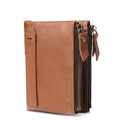 Price comparison product image Men'S Wallet,  Casual Fashion Double Zipper,  Rfid Blocking