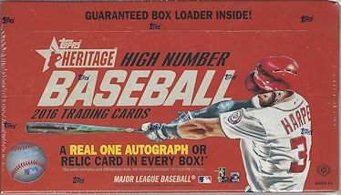 2016 Topps Heritage High Number Baseball Hobby Box by Topps