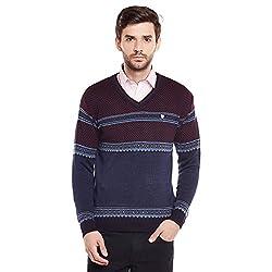 Duke Mens Poly Cotton Sweater (Bbapldk36034_L_Blue Mix_Large)