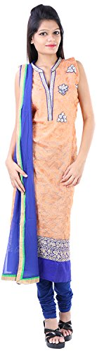 JYOTI Women's Jute Unstiched salwar Suit (JBAM-30, Peach)