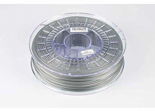 FiloAlfa Filament N-ASA de 1,75mm – Gris métallisé – 700g