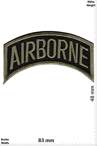 Airborne Emblem (Patch - Airborne - green - Military - U.S. Army - Air Force -Tactical - Arme - Bundeswehr - Militär - Patches - Aufnäher Embleme Bügelbild Aufbügler)
