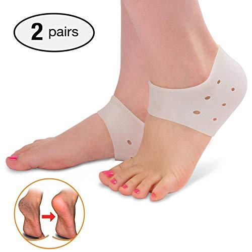 Calcetines de talón de silicona con gel hidratante para el cuidado de los pies