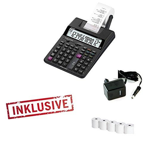 Casio HR-150Tec Calculatrice imprimante avec bloc d'alimentation et 5rouleaux de papier