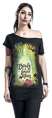 Die Schöne und das Biest Beauty is Found Within Girl-Shirt Schwarz Schwarz