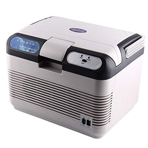 QINJLI Kühlschrank Fürs Auto, Tragbare 12L Große Raumkühlung Und Heizung Leise, Geräuscharme, Energiesparende Energie Kann Sowohl Von Zuhause Als Auch Vom Auto Genutzt Werden -