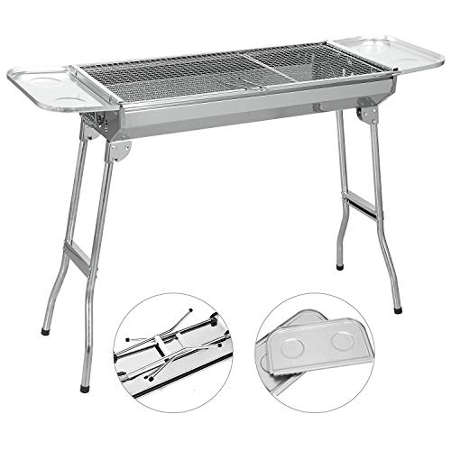 SunJas barbecue à charbon Barbecue Four de Charbon Portable BBQ Charbon Pliable Robuste...